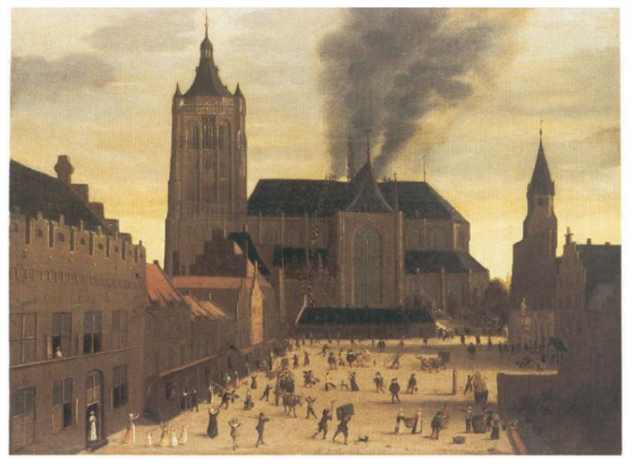 Fire at the Eusebius Church in 1650.