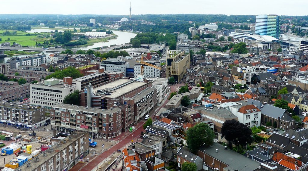 View over modern Arnhem, the Netherlands.