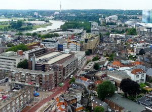 View over morden Arnhem, the Netherlands.