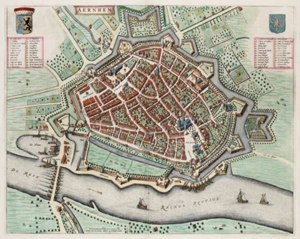 Map of Arnhem 1650