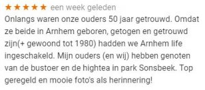 Google review Arnhem tour