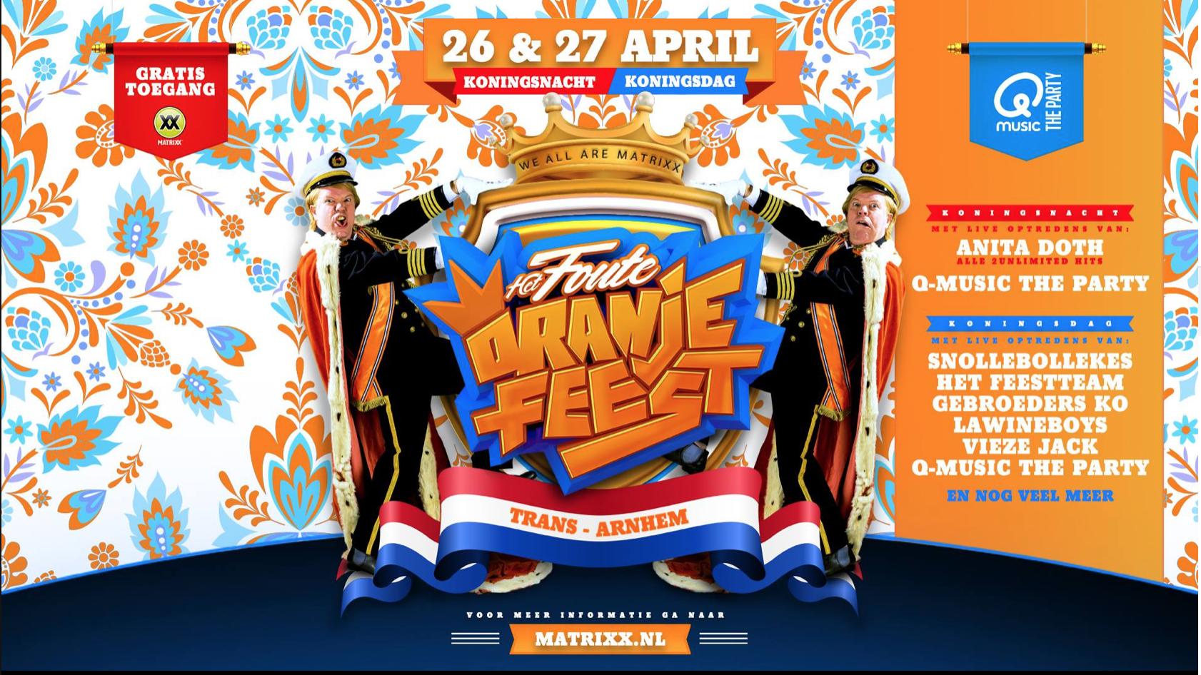 eb7b7e8fb05 King's Day & Night events Arnhem - ArnhemLife party agenda